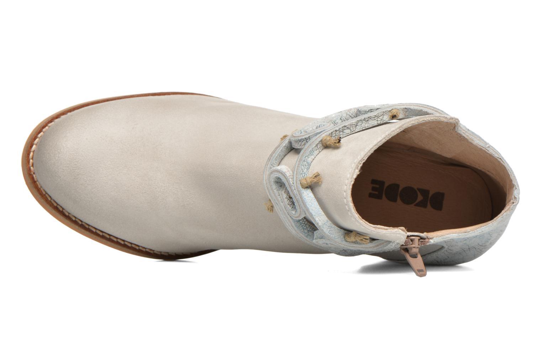 Bottines et boots Dkode Barak Blanc vue gauche