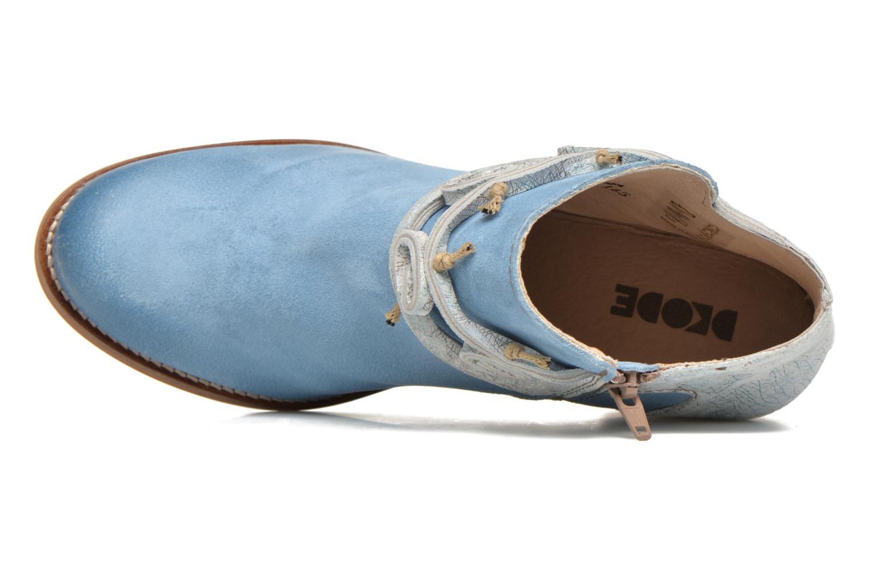 Bottines et boots Dkode Barak Bleu vue gauche