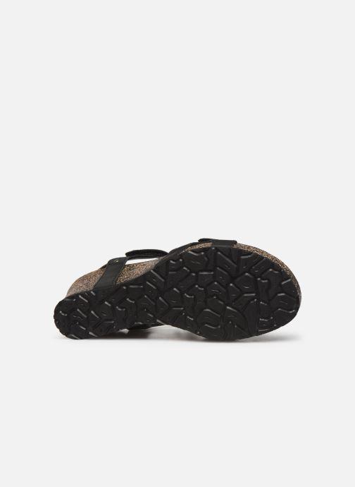 Sandales et nu-pieds Panama Jack Julia Noir vue haut