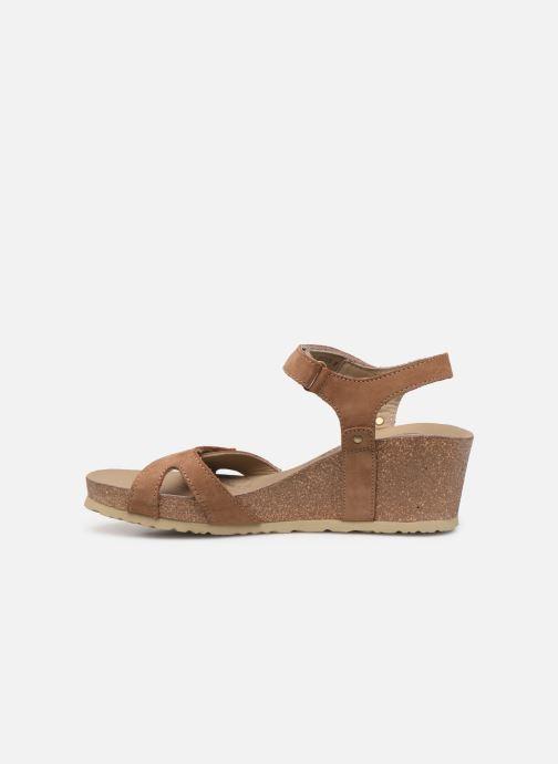 Sandales et nu-pieds Panama Jack Julia Marron vue face