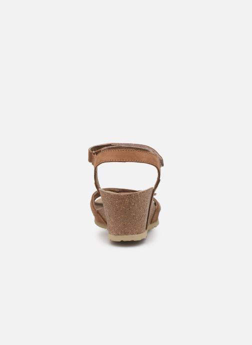Sandales et nu-pieds Panama Jack Julia Marron vue droite