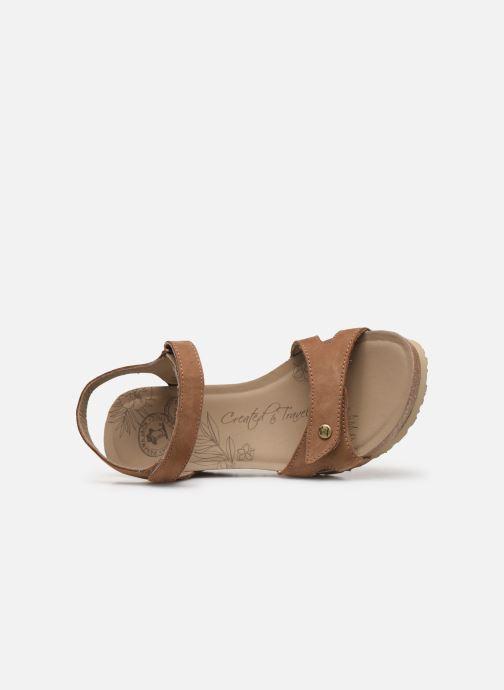 Sandales et nu-pieds Panama Jack Julia Marron vue gauche