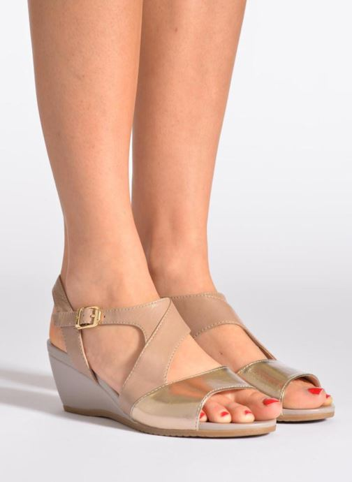 Sandals Stonefly Sweet II 21 Beige view from underneath / model view