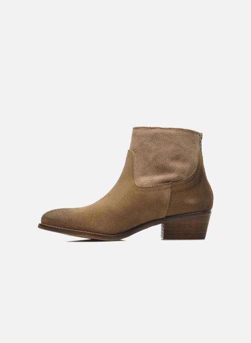Bottines et boots Méliné Catch Marron vue face
