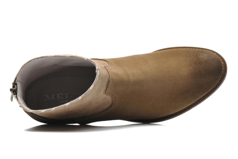 Bottines et boots Méliné Catch Marron vue gauche
