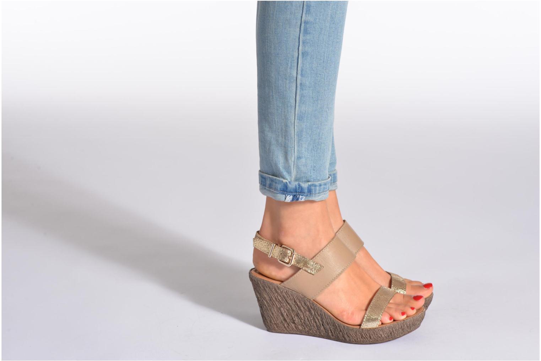 Sandales et nu-pieds Méliné Miler Beige vue bas / vue portée sac