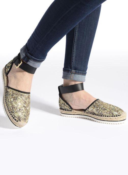 Sandales et nu-pieds Anaki Chica Or et bronze vue bas / vue portée sac