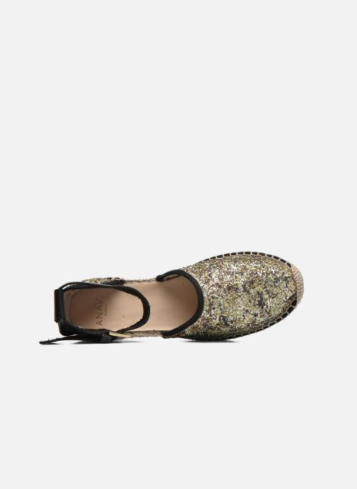 Sandales et nu-pieds Anaki Chica Or et bronze vue gauche