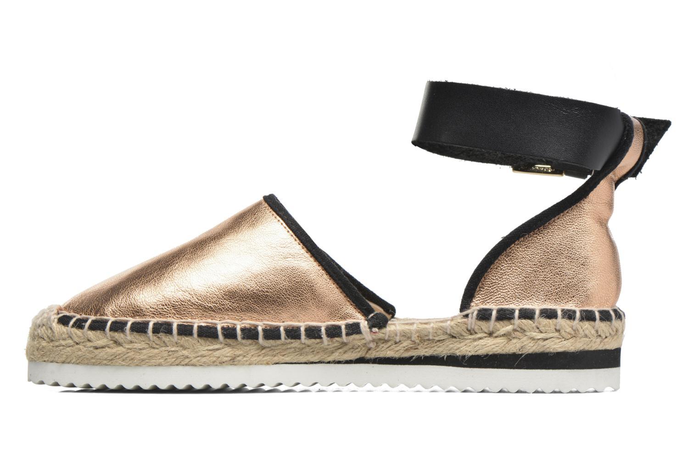 Sandales et nu-pieds Anaki Chica Or et bronze vue face