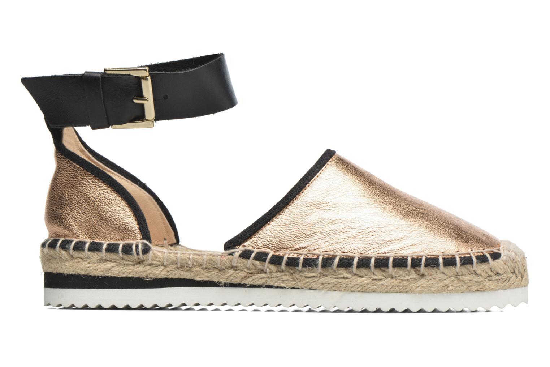 Sandales et nu-pieds Anaki Chica Or et bronze vue derrière
