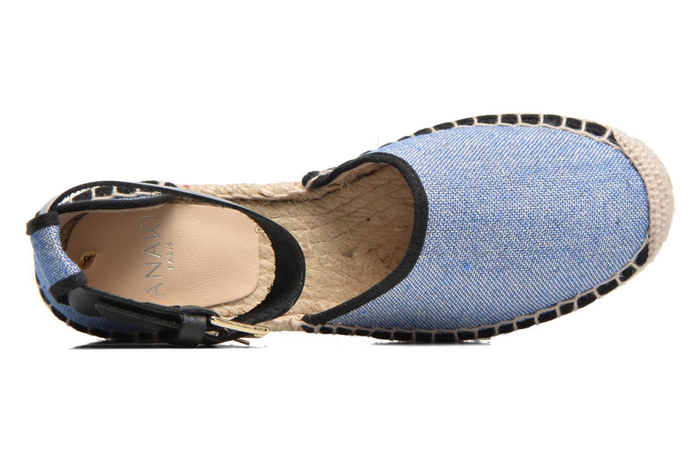 Sandales et nu-pieds Anaki Chica Bleu vue gauche