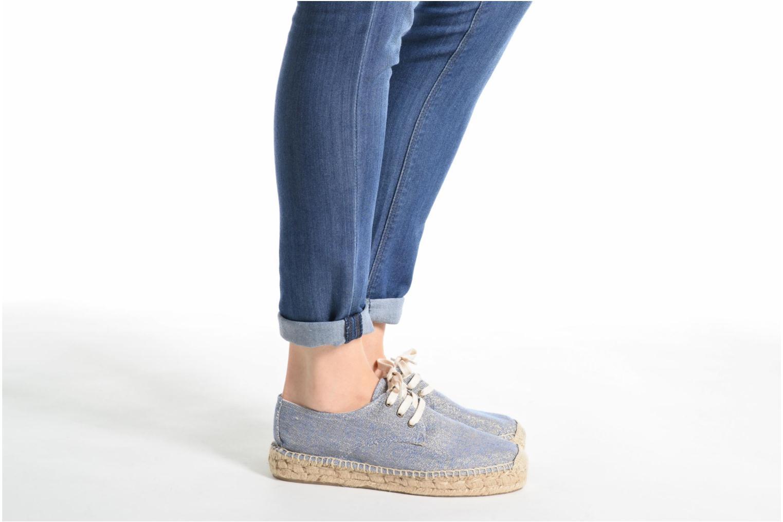 Chaussures à lacets Anaki Sable Or et bronze vue bas / vue portée sac