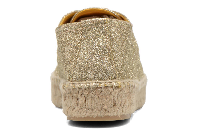 Chaussures à lacets Anaki Sable Or et bronze vue droite