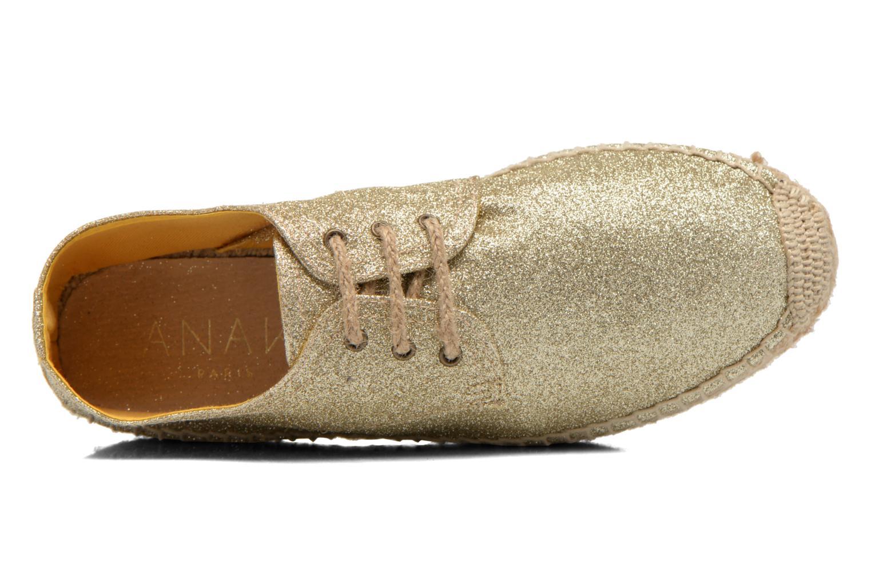 Chaussures à lacets Anaki Sable Or et bronze vue gauche