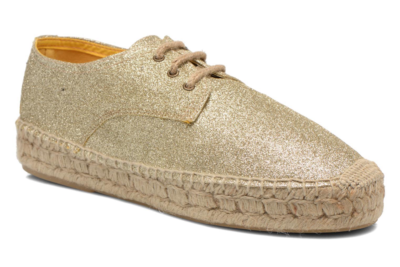 Chaussures à lacets Anaki Sable Or et bronze vue détail/paire