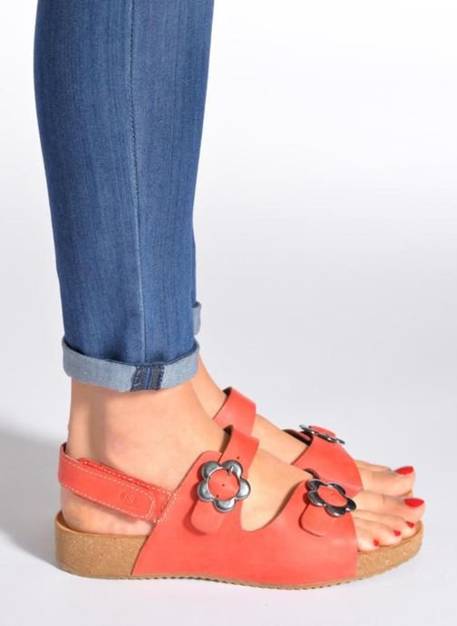 Sandals Josef Seibel Tonga 17 Red view from underneath / model view