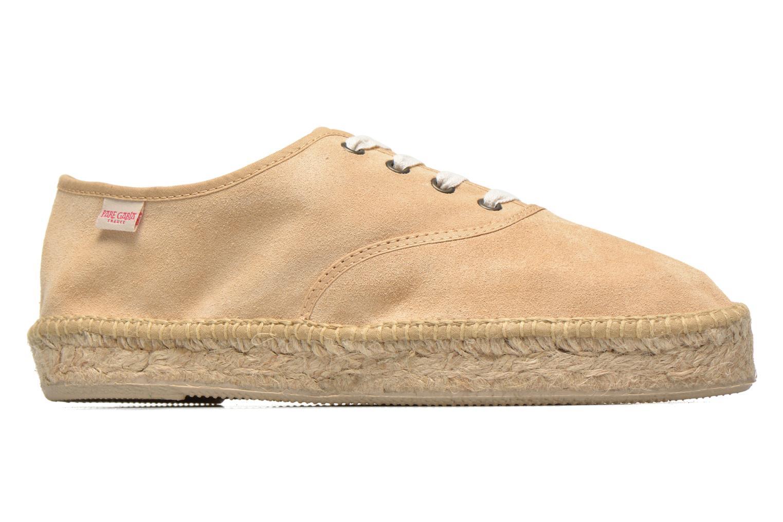 Chaussures à lacets Pare Gabia Ictum croûte Beige vue derrière