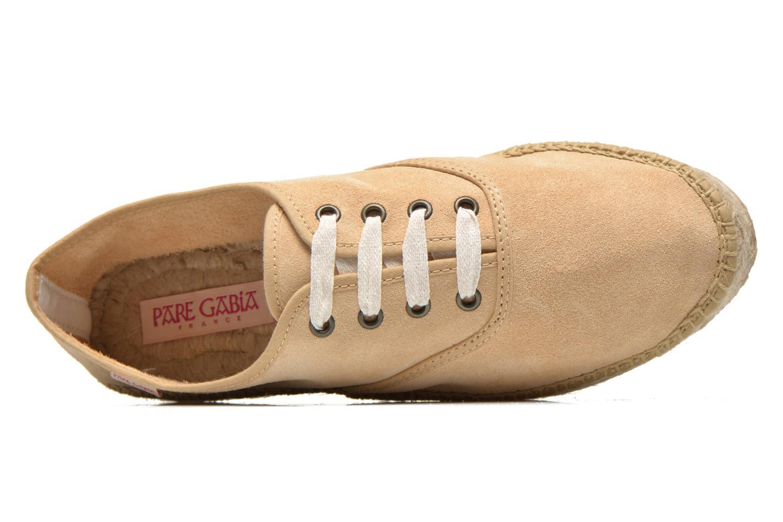 Chaussures à lacets Pare Gabia Ictum croûte Beige vue gauche