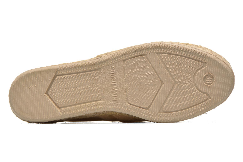 Chaussures à lacets Pare Gabia Ictum croûte Beige vue haut