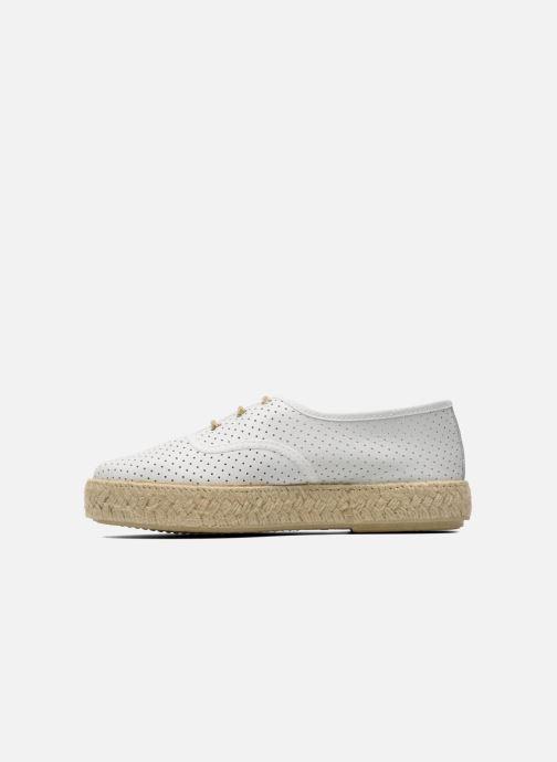 Chaussures à lacets Pare Gabia Lotus cuir Blanc vue face