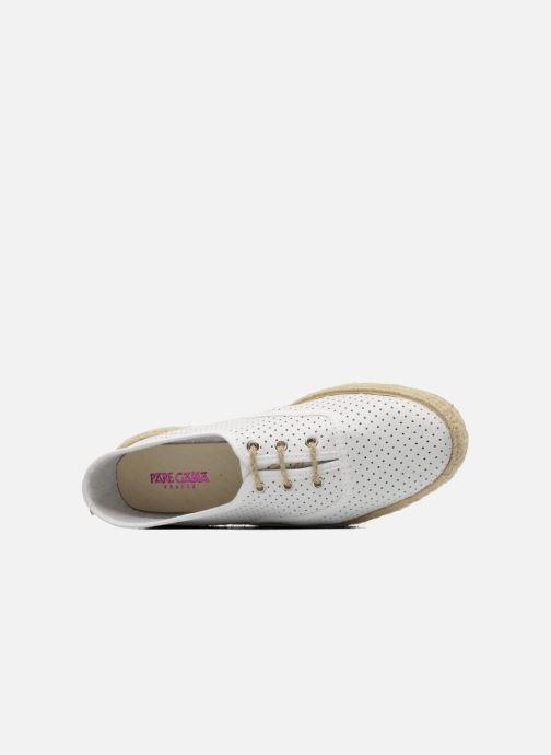 Chaussures à lacets Pare Gabia Lotus cuir Blanc vue gauche