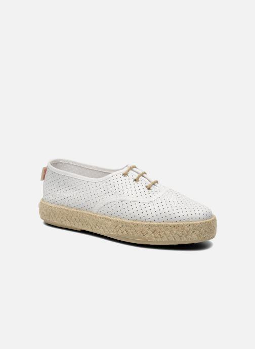 Chaussures à lacets Pare Gabia Lotus cuir Blanc vue détail/paire