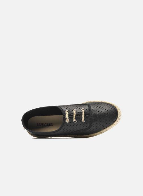 Snörade skor Pare Gabia Lotus cuir Svart bild från vänster sidan