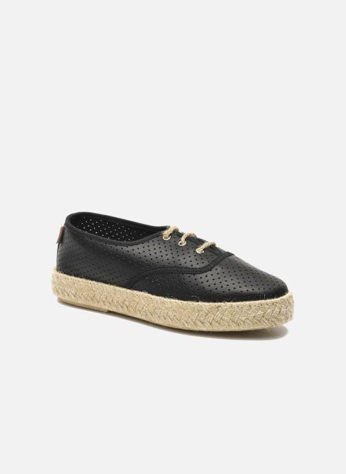 Snøresko Pare Gabia Lotus cuir Sort detaljeret billede af skoene