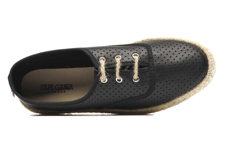 Chaussures à lacets Pare Gabia Lotus cuir Noir vue gauche