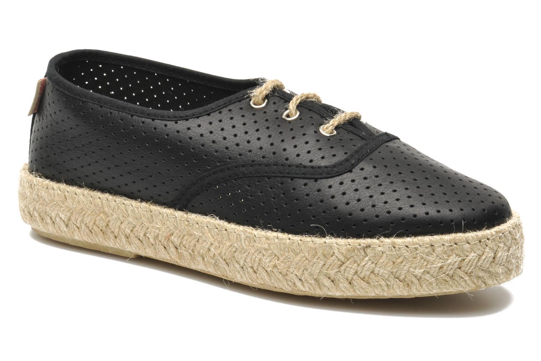 Chaussures à lacets Pare Gabia Lotus cuir Noir vue détail/paire