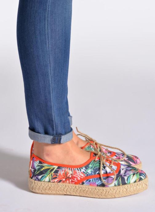 Lace-up shoes Pare Gabia Lotus toile Multicolor view from underneath / model view