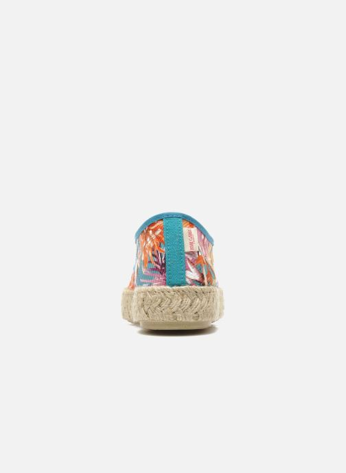 Lace-up shoes Pare Gabia Lotus toile Multicolor view from the right