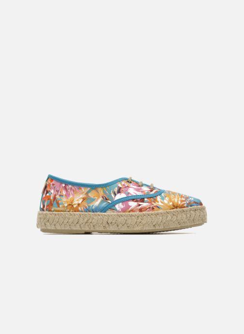 Lace-up shoes Pare Gabia Lotus toile Multicolor back view