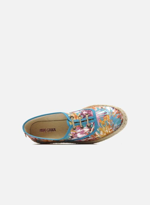 Lace-up shoes Pare Gabia Lotus toile Multicolor view from the left