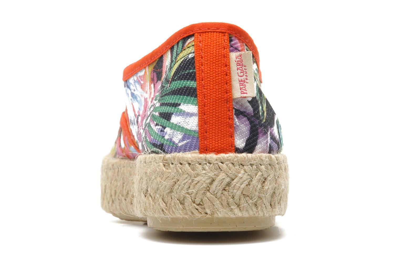 Chaussures à lacets Pare Gabia Lotus toile Multicolore vue droite