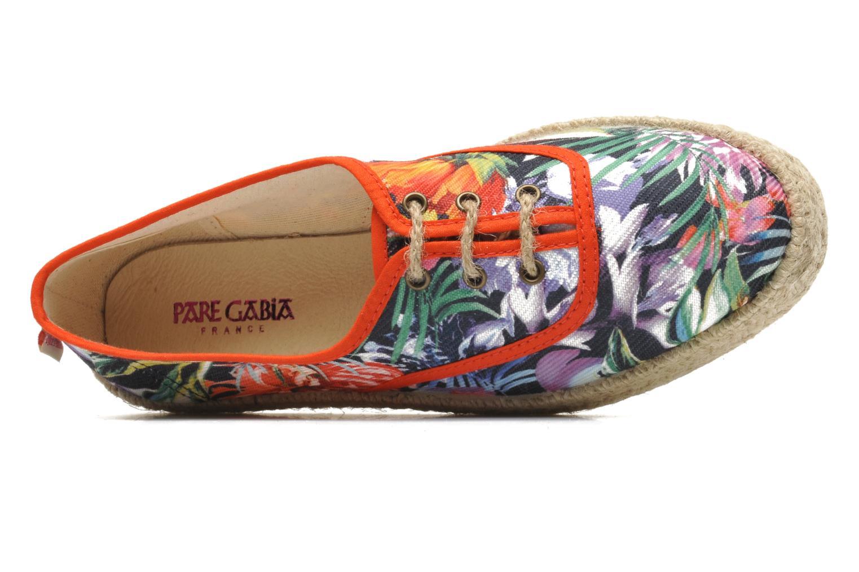 Chaussures à lacets Pare Gabia Lotus toile Multicolore vue gauche