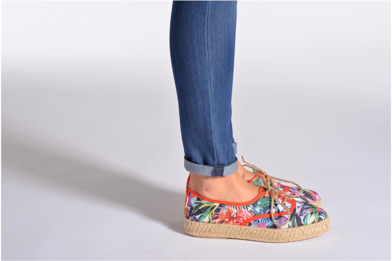 Chaussures à lacets Pare Gabia Lotus toile Multicolore vue bas / vue portée sac