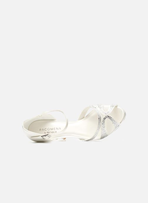 Sandals Menbur Aster White view from the left