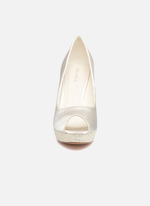 Escarpins Menbur Bleuet Blanc vue portées chaussures