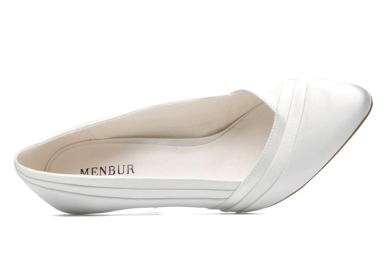 Zapatos de tacón Menbur Mare Blanco vista lateral izquierda