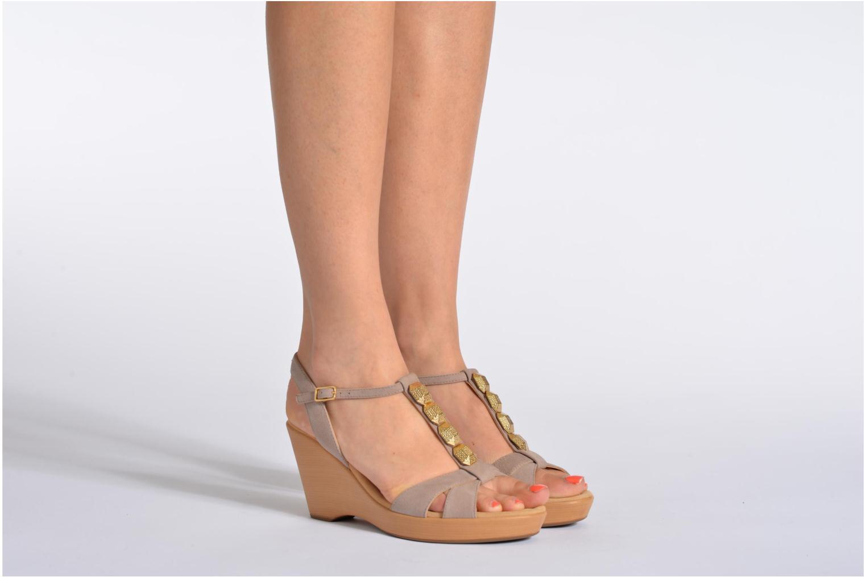 Sandales et nu-pieds Unisa Rony Noir vue bas / vue portée sac