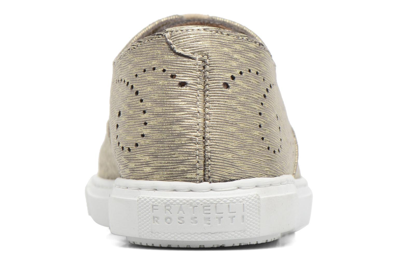 Chaussures à lacets Fratelli Rossetti Lou Or et bronze vue droite