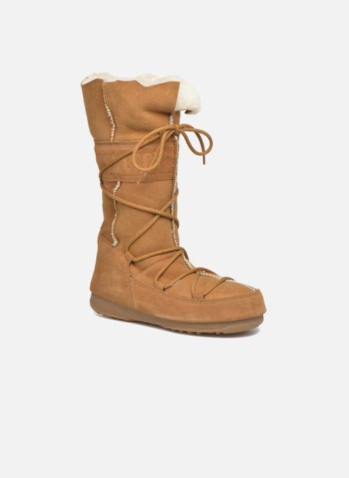 Bottines et boots Moon Boot Vagabond High Marron vue 3/4