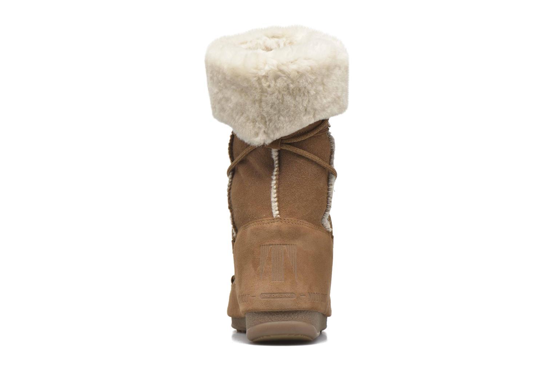 Bottines et boots Moon Boot Vagabond High Marron vue droite