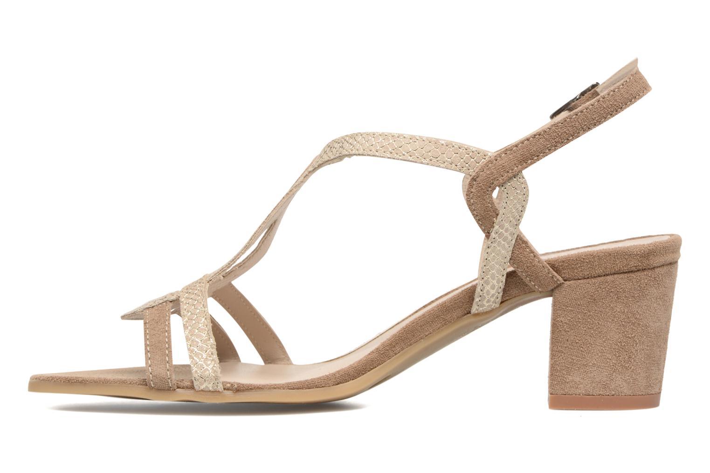 Sandales et nu-pieds Perlato Pandora Beige vue face