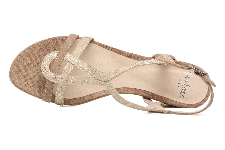 Sandales et nu-pieds Perlato Pandora Beige vue gauche