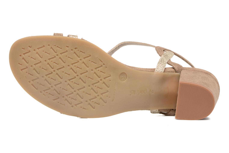 Sandales et nu-pieds Perlato Pandora Beige vue haut