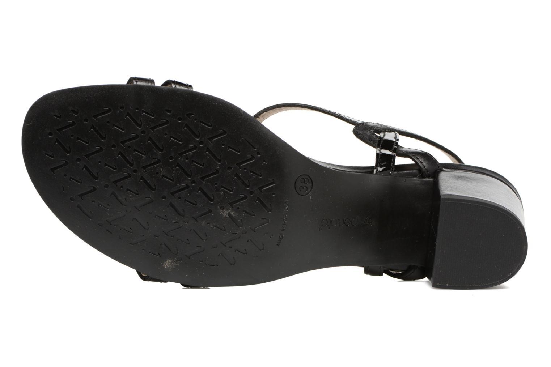 Sandales et nu-pieds Perlato Pandora Noir vue haut