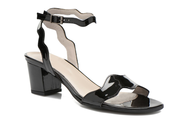 Sandaler Perlato Paz Sort detaljeret billede af skoene