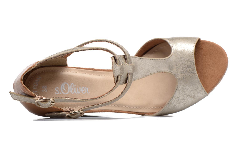 Sandales et nu-pieds S.Oliver Marcusse Or et bronze vue gauche